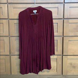 Maroon tunic dress